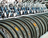 new, bicycle, bicycles, bike, bikes, business, detail, factory, loading, production, row, sales, several, store, tra