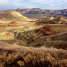 Painted Hills in the John Day Fossil Beds National Monument. Oregon. USA