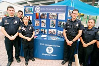 US Custom Service Explorers. Fair at Jose Marti Park. Miami River Day. Miami. Florida. USA