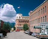 Town of Leadville in Colorado, USA