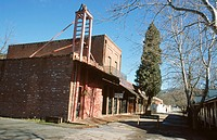 Columbia State Historic Park, 'Gem of the Southern mines' (gold discovered here in March 1850): old firehouse and drugstore. California. USA