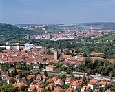Germany, Würzburg, Main, Franconia, Bavaria, city panorama, wine-growing area