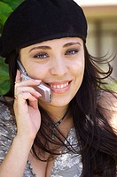 Latin lady on cell phone