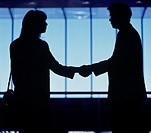 Business & Profession, Executive, Office, Couple, Silhouette