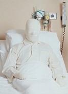 Medical & Pharmaceutical, Hospital, Patient, Serious burns bandaging