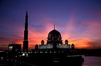 Masjid Putra at sunset, Putrajaya, Malaysia