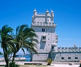 Belem Tower, built on Tagus river from 1515 to 1525. Lisbon. Portugal