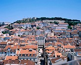 Lisbon with the Castelo de São Jorge in background. Portugal