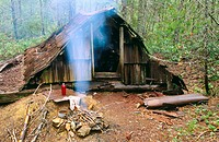 Baileys Cabin on Kalmiopsis Wilderness. Siskiyou National Forest. Curry Co., Oregon. USA