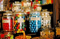 Jawbreaker candies in shop. Columbia State Historic Park. Tuolumne County. California
