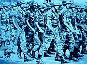10760970, US soldier, USA, America, North America, army, military, marching, movement, blue, war, leading of war, power, pers
