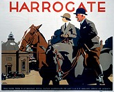 Poster produced by London & North Eastern Railway (LNER) to promote train services to Harrogate, Yorkshire. Artwork by Frank Newbould (1887-1951), who...