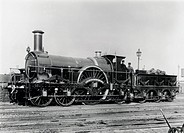 North British Railway 2-4-0 steam locomotive, built at Dubs & Co´s Glasgow Locomotive Works in 1865.
