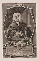 Mezzotint by I I Haid after Georg Daniel Heumann of Samuel Christian Hollmann (1696-1787).