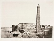 Autotype by Harroun & Bierstadt from ´Egyptian Obelisks´ by Henry H Gorringe, (New York, 1882). The obelisk was erected by Thutmose III at Heliopolis ...