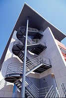 Staircase on a modern building