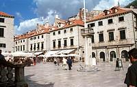 Pedestrian area in Dubrovnik