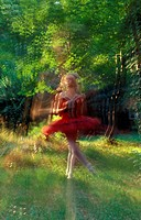 Ballet Girl in Forest