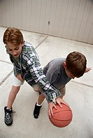 boys playing one-on-one