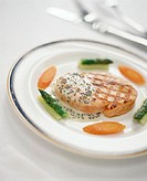 Grilled Tuna with Vegetables and Caviar Sauce