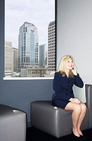 Business Traveler on Cellular Phone