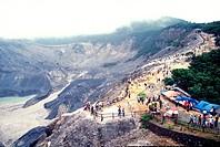 Volcanic crater, Tangkuban Prahu, Indonesia