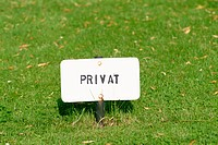 'Privat' sign