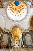 Rotunda at the Capitolio building in Havana.  In the middle of the rotunda, and directly beneath the Capitolio's dome, is embedded a 25-carat diamond....