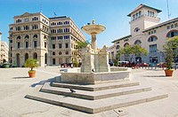 The Fountain of Lions (La Fuente de los Leones) in Plaza de San Francisco in Old Havana (Habana Vieja).  The Terminal Sierra Maestra, where cruise shi...