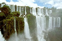 Iguazu Waterfalls. Argentina-Brazil border