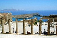 The Acropolis of Lindos. Rhodes Island, Dodecanese. Greece