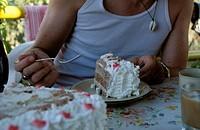 Großes Tortenstück