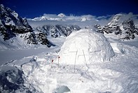 Alaska, camping, hiking, Igloo, mountains, Sheldon amphitheater, snow, spare time, spending the night, trekking, USA