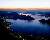 10652076, view, from Emmetten, Buochs, Bürgenstock, Ennetbürgen, scenery, lights, Lucerne, night, at night, Obwalden, places,