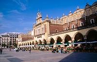 Sukiennice (Cloth Hall) Main market square. Old town. Rynek Glowny. Krakow. Poland