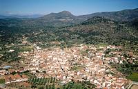 Aerial view of El Real de San Vicente. Toledo province. Castilla-La Mancha. Spain
