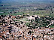Aerial view of Trujillo. C&#225;ceres province. Extremadura. Spain