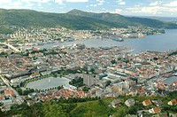 Looking over the city Bergen.