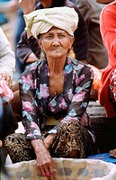 Balinese old woman. Bali, Indonesia
