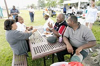 Barbecue at NAACP field day. Port Huron. Michigan, USA