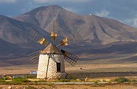 Windmill near Tefia. Fuerteventura, Canary Islands. Spain