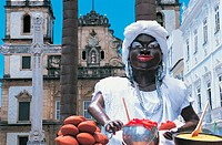 Model of a Woman Cooking at a Religious Festival in Bahia de Salvador, Bahia, Brazil