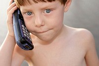 Child using cellular phone