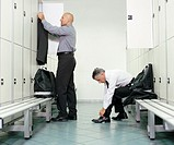 Two Men Getting Ready in a Changing Room