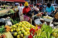 St. George´s saturday market. Grenada, Caribbean