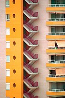 Apartment building. Oropesa del Mar, Castellon province, Valencian Community, Spain