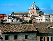 View of Roman rooftops from Hotel Bradsky. Rome. Italy
