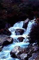 Waterfall at Thame Khola, Nepal, India