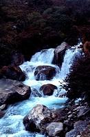 Waterfall at Thame Khola, Nepal, India