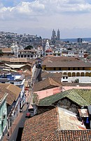 View over old Quito. Ecuador